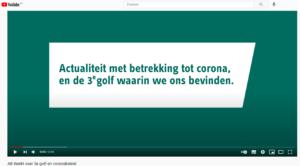 filmpje 3e golf coronabeleid